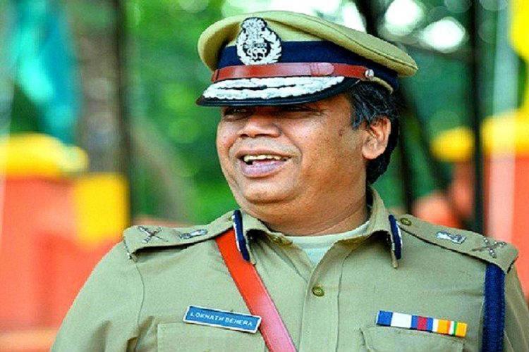 Loknath Behera in uniform says something