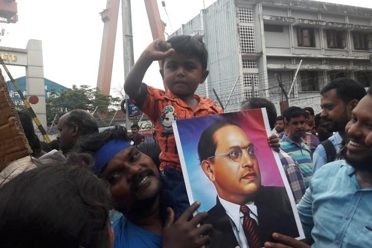 Malayalam artistes cultural activists march in Kochi protesting CAA NRC