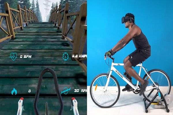 Cycle through beautiful mountains from the comforts of your home Hyd startups stunning VR