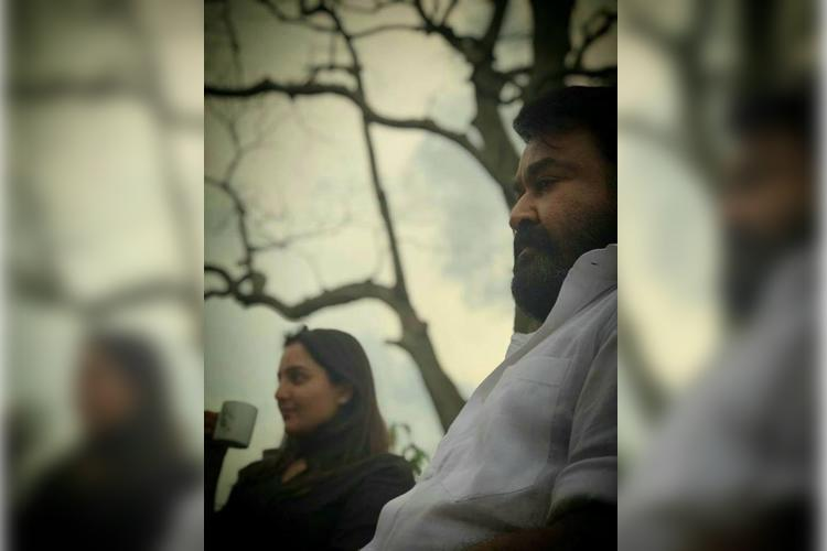 Prithviraj takes candid pic of Mohanlal and Manju Warrier on Lucifer set