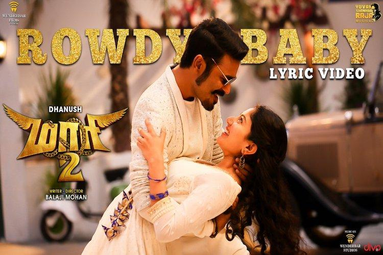 Watch Dhanush and Sai Pallavis Rowdy Baby from Maari 2 out