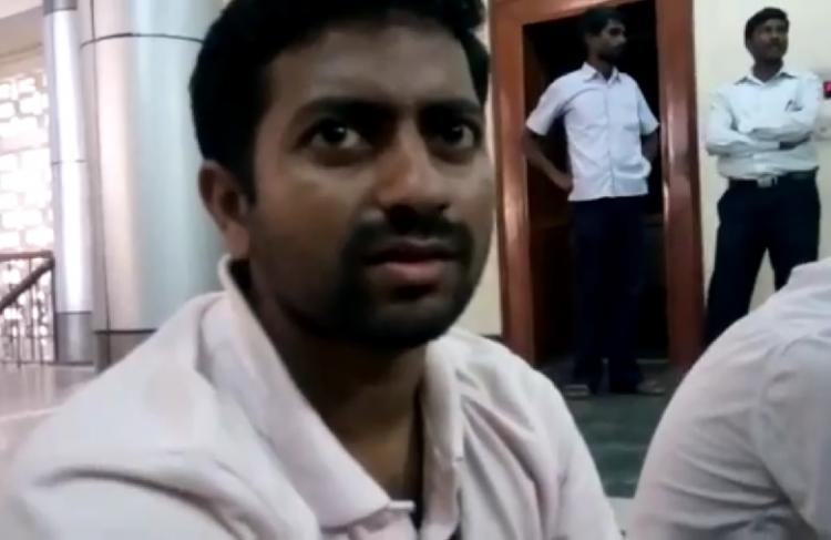 Video and Images French student at Madras Uni allegedly assaulted by staff during seminar