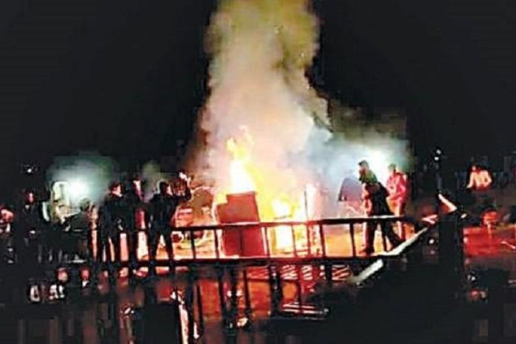 Angry about shortage of liquor New Year revellers set venue on fire in Hyderabad