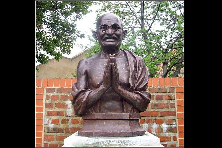 Telangana Andhra observe two-minute silence to mark Bapus death anniversary