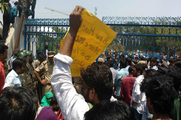 Faculty members walk out in protest but Hyd Uni says academic council took several decisions