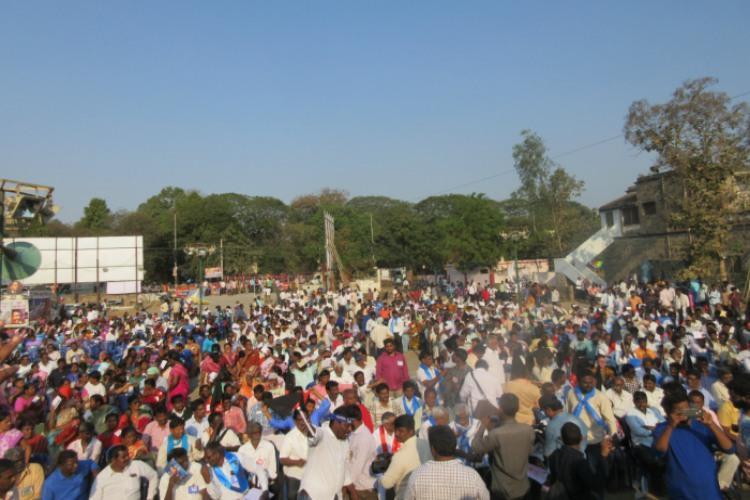 Ground Report Hundreds gather in support of Peda Gottipadu Dalits in Guntur