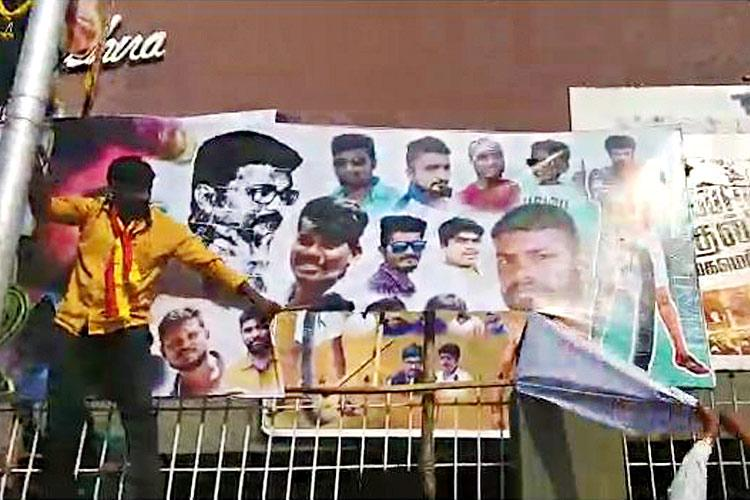 Fight outside Mersal in Bluru Pro-Kannada outfit calls for ban on Tamil movies