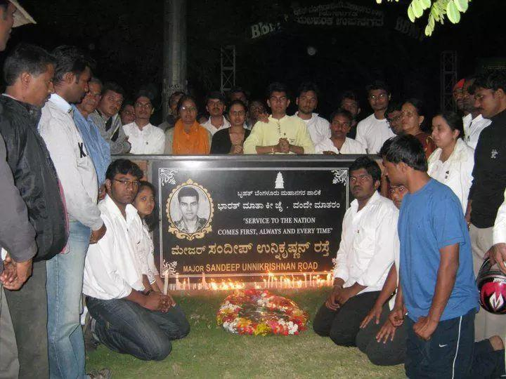 Major Sandeep Unnikrishnans plaque in Bluru hit by truck not damaged by miscreants