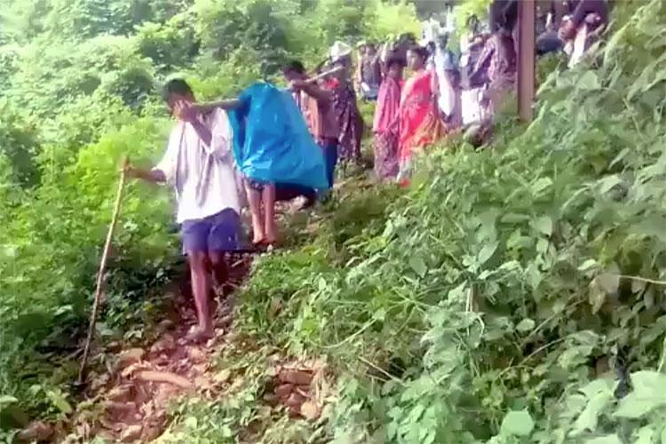 Carried on makeshift stretcher AP woman goes into labour on the way loses her child