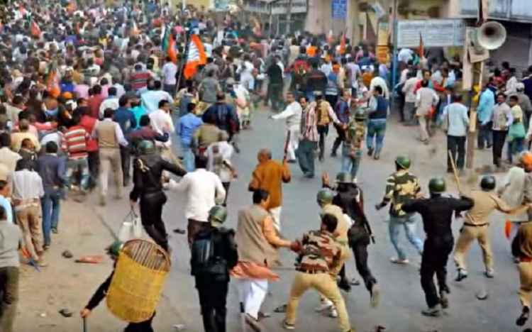 BJPs fact finding team stopped from visiting violence-hit Malda told to return