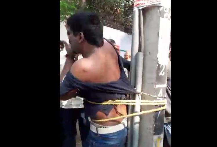 Mob justice Techie tied to pole thrashed for allegedly harassing woman in Bengaluru