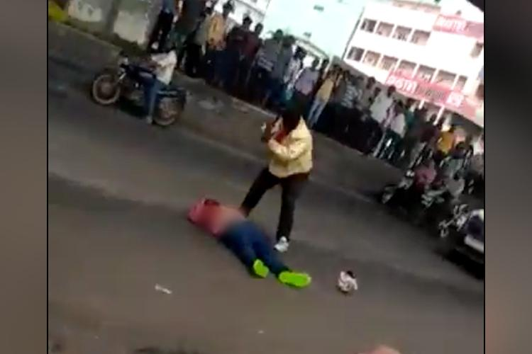 Man hacked to death in broad daylight in busy Hyd junction shocking videos emerge