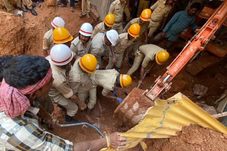 Two people dead as compound wall collapses in Mangaluru