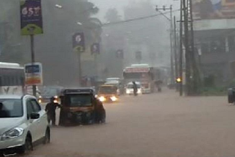 Heavy rains inundate Mangaluru At least two dead extensive damage reported