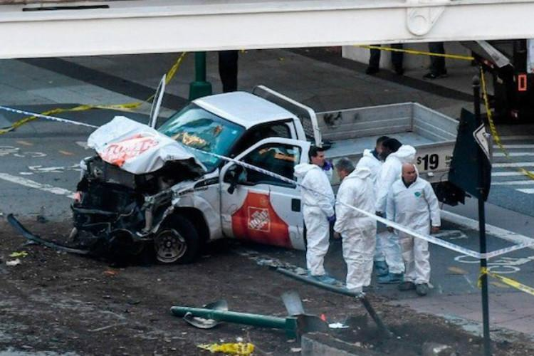 At least 8 killed as truck ploughs into bicyclists in New York