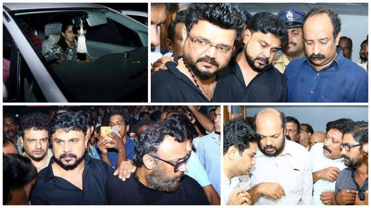Images Shocked family celebrities pay their last respects to actor Kalabhavan Mani