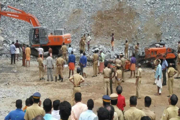 Two killed several injured as stone falls in illegal quarry in Kerala