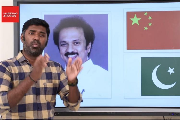 DMK files case against YouTuber Maridhas for alleging party has links with Pakistan