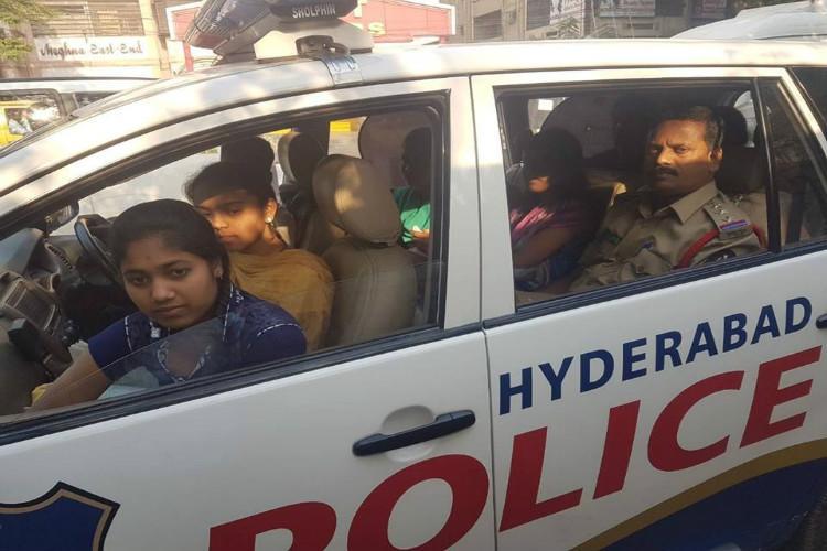 Hyderabad cop drops stranded students at exam centre wins hearts