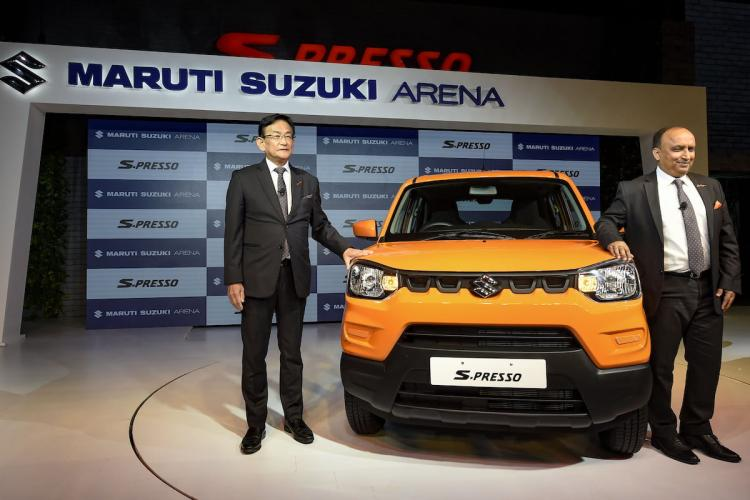 Maruti Suzuki car on display