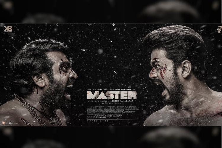 Third look poster of Master starring Vijay and Vijay Sethupathi released