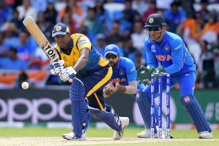 ICC World Cup India restrict Sri Lanka to 264 despite Angelo Mathews century