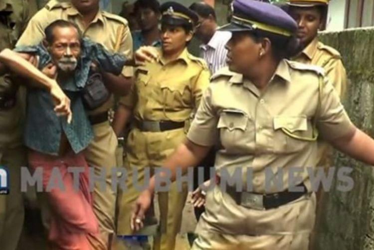 Visuals of an aged sick couple forcibly evicted shock Kerala CM intervenes