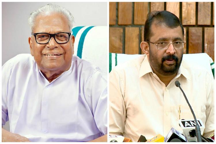 VS Achuthanandan Kerala speaker condemn curbing of media freedom inside courts