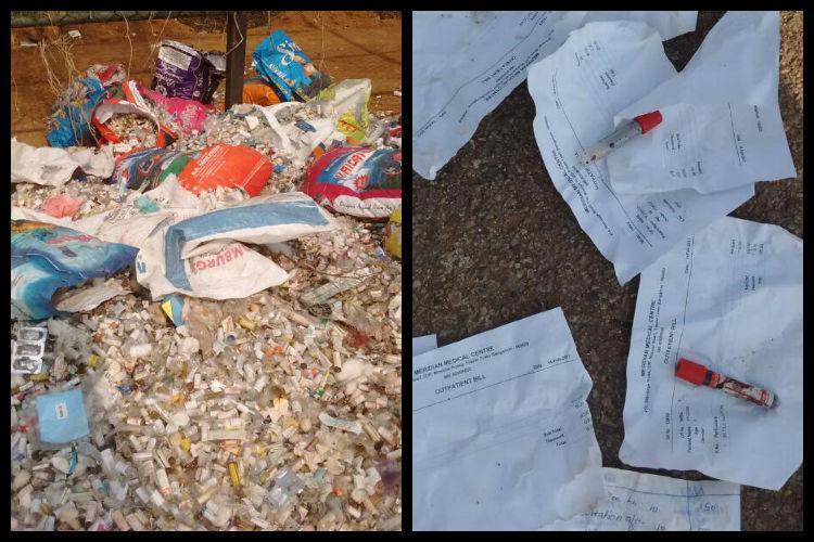 Dangerous infectious biomedical waste dumped near Alahalli lake in Bengaluru