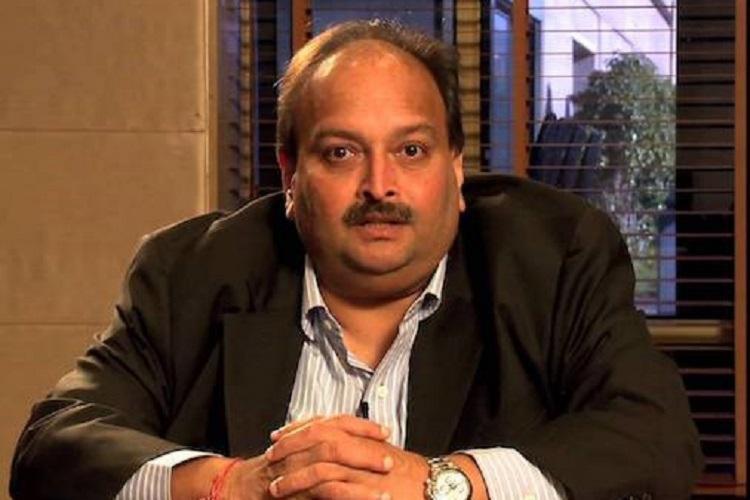 A mug shot of diamond tycoon Mehul Choski