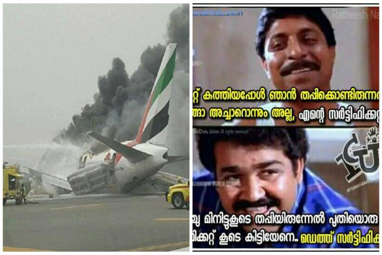 Malayalis know how to take a joke Hilarious memes mocking people on Emirates Dubai flight