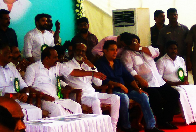 Sivaji Memorial inauguration Thank you for looking beyond politics says son Prabhu