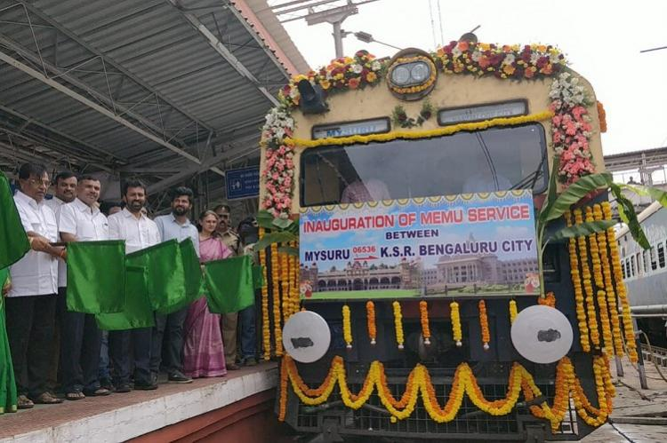 July 27 an inaugural special train for Bengaluru-Mysury MEMU Train