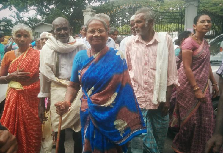 No celebration on Elders day Senior citizens in Bengaluru demand regular pension and mid-day meals