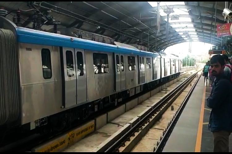 Hyderabad Metro train was not diverted to a wrong track HMR clarifies