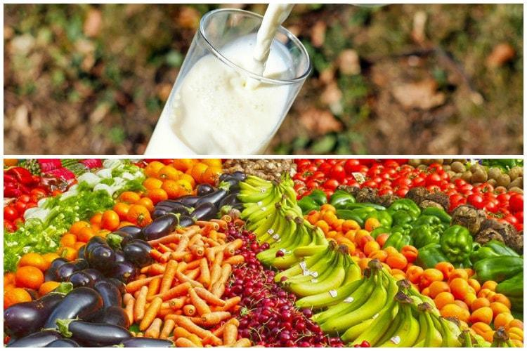 Around half of India's milk, fruit, vegetable production