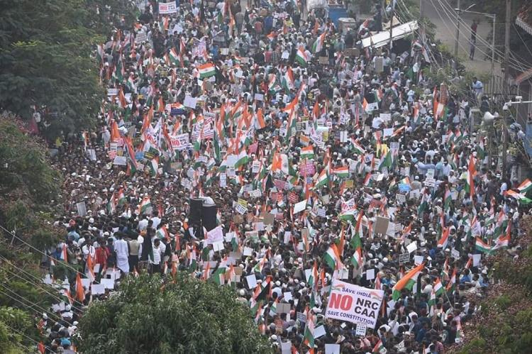 Hyd Million March Sea of people turn up at Dharna Chowk to protest against CAA NRC
