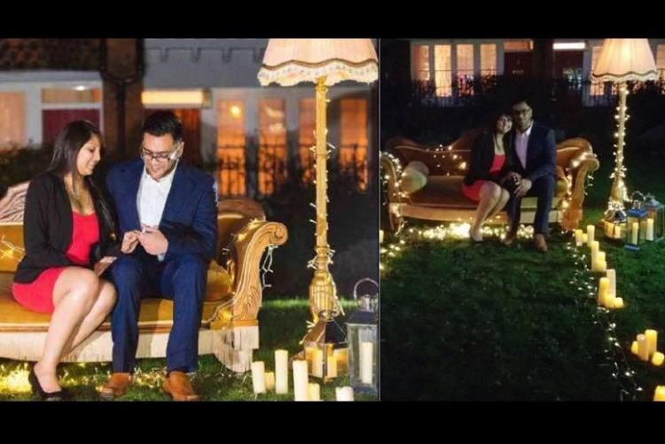 Indian guy in UK proposes to his girlfriend Friends style recreates opening credits set