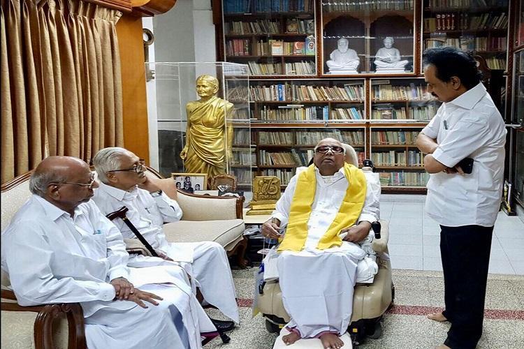 Karunanidhi is perfectly fine MK Stalin condemns rumours on Kalaignars health