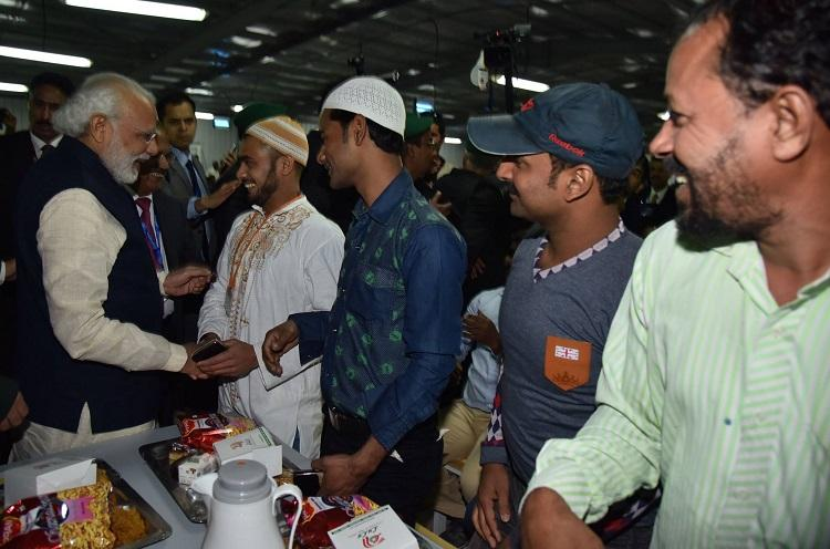 PM Modi touches hearts of Indian migrants shares a meal with them in Riyadh