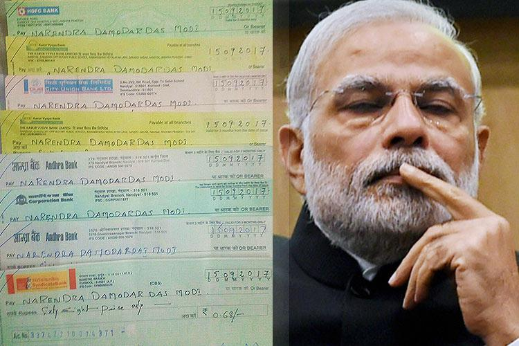 Desperate Rayalaseema farmers send PM Modi the only gift they can afford 68 paise each