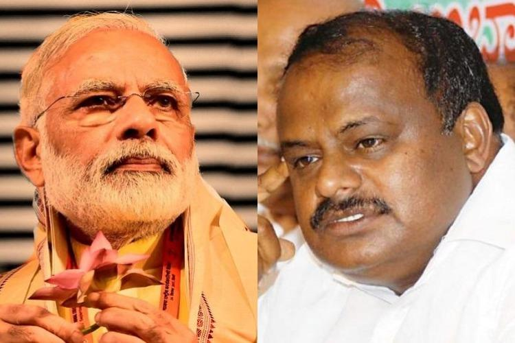 PM reacting to a statement I never made Ktaka CM Kumaraswamy on Modis clerk jibe