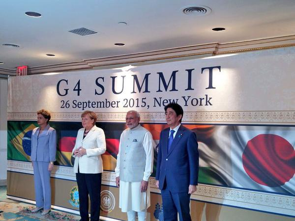 UNSC must include worlds largest democracies says PM Modi at G4 summit