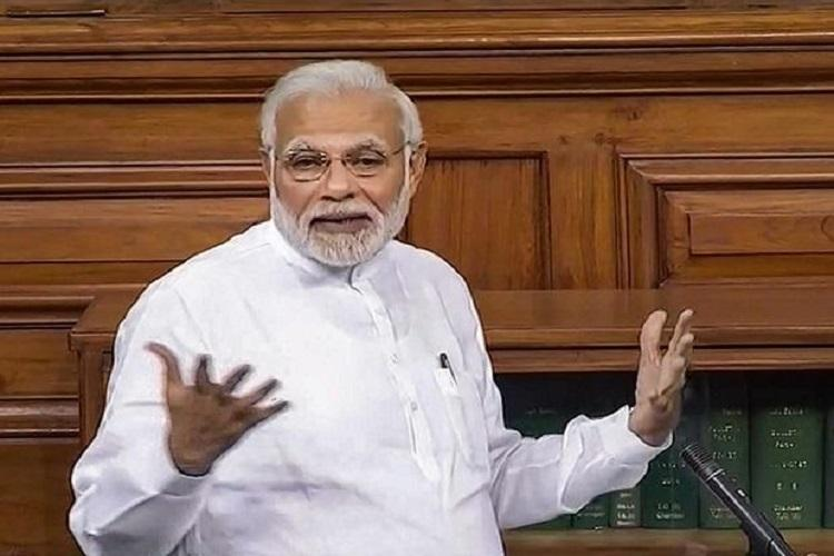PM lashes out at Naidu for no confidence motion but is all praise for KCR