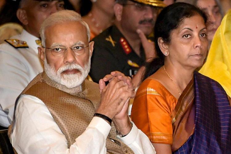 PM Narendra Modi and FM Nirmala Sitharaman