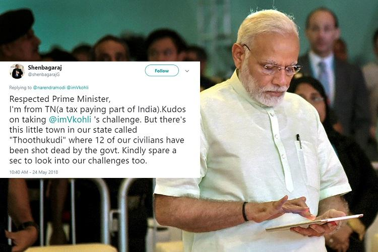 What about Thoothukudi People slam PM Modi for tweeting on Fitness Challenge