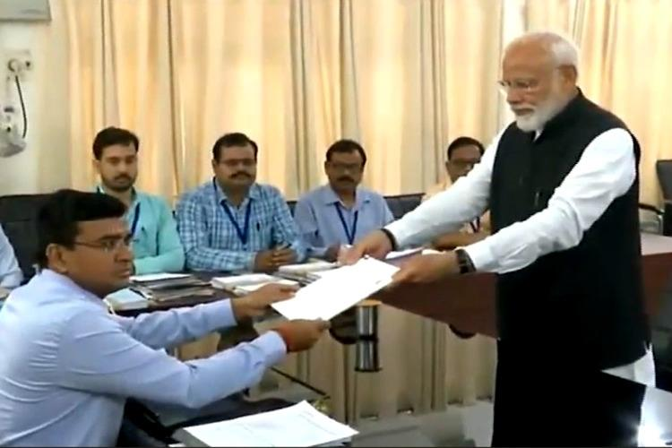 PM Modi files nomination papers from Varanasi, NDA leaders in tow