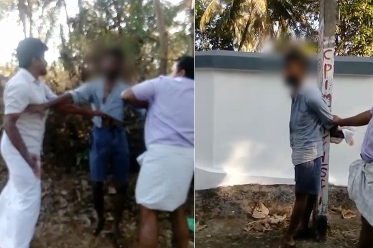 Mob accuses youth of harassing woman beats and ties him to electric pole in Kerala