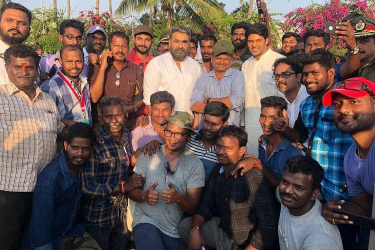 Mohanlal completes shooting his portions for Kaappaan