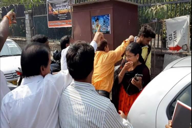Hyd journalist assaulted while covering protest against women entry in Sabarimala